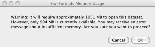 Managing memory in ImageJ/Fiji using Bio-Formats — Bio
